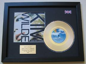 "KIM WILDE - Never Trust A Stranger 7"" Platinum DISC with cover"